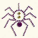BasicGrey - Bling It Collection - Rhinestones - Designer Spider - Violet