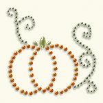 BasicGrey - Bling It Collection - Rhinestones - Designer Pumpkin - Tangerine, BRAND NEW