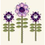 BasicGrey - Bling It Collection - Rhinestones - Designer Sunflower - Lilac