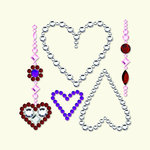 BasicGrey - Bling It Collection - Rhinestones - Heart Pendant - Diamond, CLEARANCE