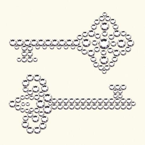 BasicGrey - Bling It Collection - Rhinestones - Keys - Diamond