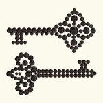BasicGrey - Bling It Collection - Rhinestones - Keys - Onyx, CLEARANCE