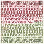 Basic Grey Letter Stickers - Blitzen, CLEARANCE