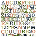 BasicGrey - Boxer Collection - Mini Monogram Stickers , CLEARANCE