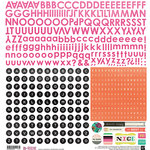 BasicGrey - B-Side Collection - 12 x 12 Cardstock Stickers - Alphabet