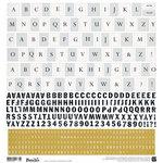 BasicGrey - Barista Collection - 12 x 12 Cardstock Stickers - Alphabet