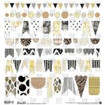 BasicGrey - Barista Collection - 12 x 12 Cardstock Stickers - Banners