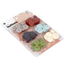 BasicGrey - Boxer Collection - Buttons, CLEARANCE