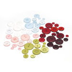 BasicGrey - Eskimo Kisses Collection - Christmas - Buttons, CLEARANCE