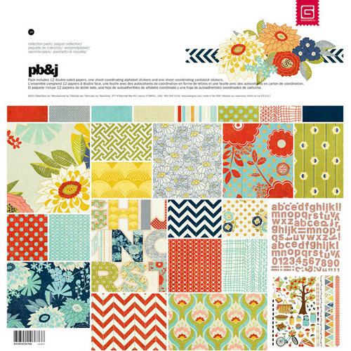 BasicGrey - PBandJ Collection - 12 x 12 Collection Pack