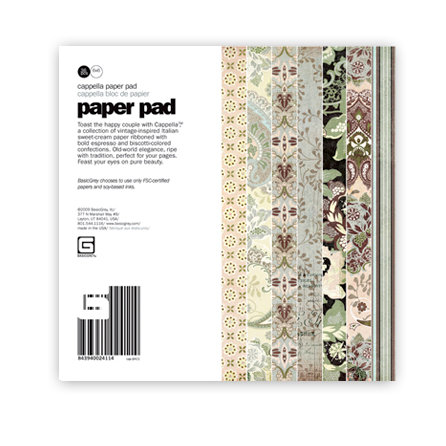 BasicGrey - Cappella Collection - 6 x 6 Paper Pad, BRAND NEW