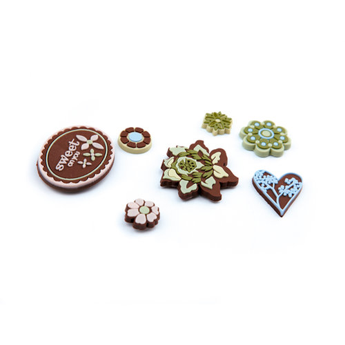 BasicGrey - Cappella Collection - Gummies - Rubber Stickers, CLEARANCE
