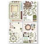 BasicGrey - Cappella Collection - Adhesive Chipboard - Shapes, CLEARANCE