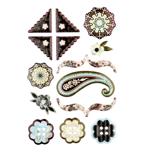 BasicGrey - Cappella Collection - Epoxy Stickers, CLEARANCE