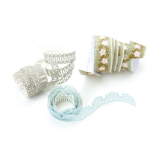 BasicGrey - Cappella Collection - Doilies - Self Adhesive Ribbon, CLEARANCE