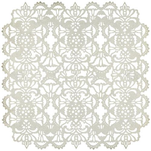 BasicGrey - Cappella Collection - Doilies - 12 x 12 Die Cut Paper - Fancy