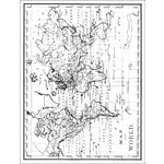 Hero Arts - BasicGrey - South Pacific Collection - Repositionable Rubber Stamps - Map of the World