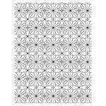 Hero Arts - BasicGrey - Tea Garden Collection - Repositionable Rubber Stamps - Garden Tile Pattern