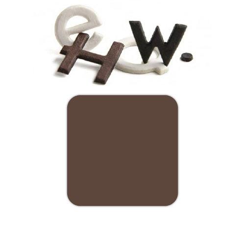 Basic Grey - Chocolate Chip - Self Adhesive Chipboard Alphabets - Piper - Milk Chocolate