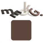 Basic Grey - Chocolate Chip - Self Adhesive Chipboard Alphabets - Beckham - Milk Chocolate