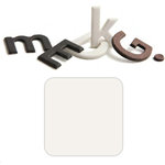 Basic Grey - Chocolate Chip - Self Adhesive Chipboard Alphabets - Beckham - White Chocolate