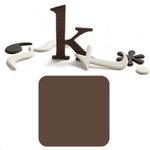 Basic Grey - Chocolate Chip - Self Adhesive Chipboard Alphabets - Delilah - Milk Chocolate