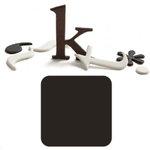 Basic Grey - Chocolate Chip - Self Adhesive Chipboard Alphabets - Delilah - Dark Chocolate