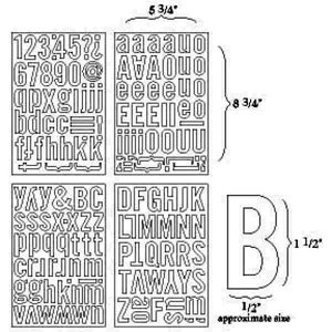 BasicGrey - Self-Adhesive Undressed Chipboard - Block Alphas - Alphabet