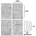 BasicGrey - Self-Adhesive Undressed Chipboard - Block Alphas - Alphabet