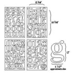 BasicGrey - Self-Adhesive Undressed Chipboard - Mini Monos - Mini Monogram Alphabet and Numbers