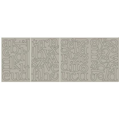 BasicGrey - Monograms Chipboard  - Mellow - Margie