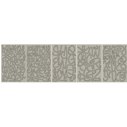 BasicGrey - Mini Monograms Chipboard - Mellow - Wilma