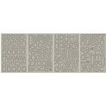 BasicGrey - Mini Monograms Chipboard - Periphery - Sweets