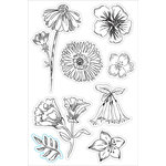 Hero Arts - BasicGrey - Tea Garden Collection - Clear Acrylic Stamps - Tea Flowers