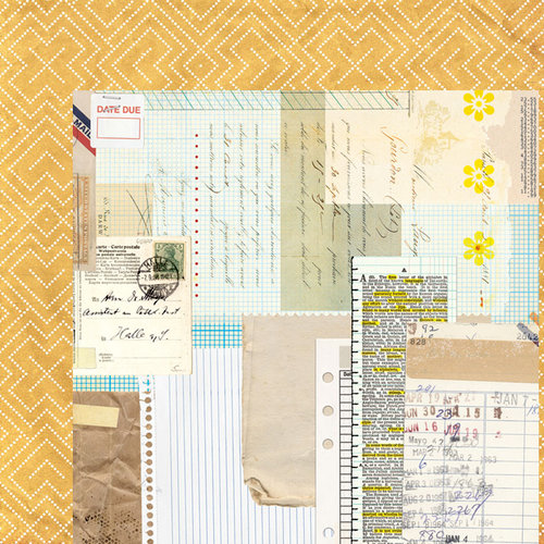 BasicGrey - Clippings Collection - 12 x 12 Double Sided Paper - Gazette