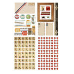 BasicGrey - Clippings Collection - Adhesive Chipboard - Shapes and Alphabets