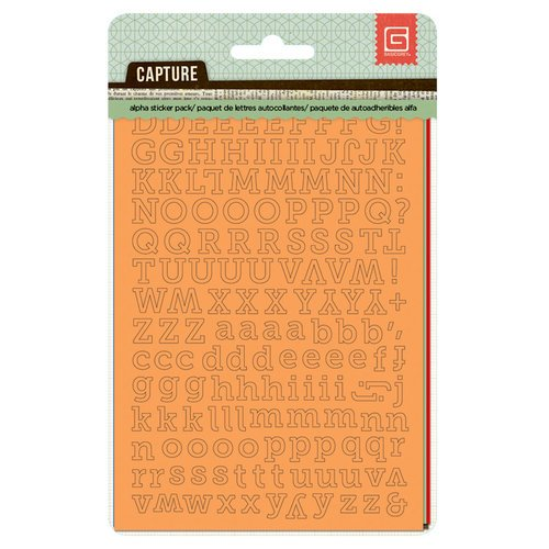 BasicGrey - Capture Collection - Cardstock Stickers - Alphabet