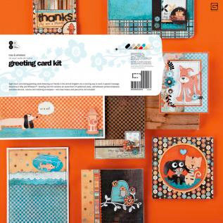 BasicGrey - Max and Whiskers Collection - Greeting Card Kit, CLEARANCE