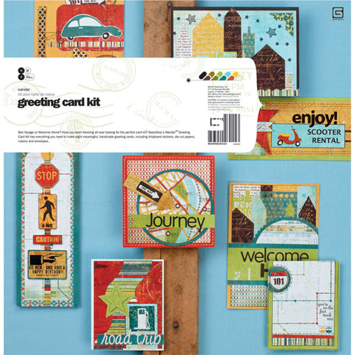BasicGrey - Wander Collection - Greeting Card Kit