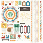BasicGrey - Carte Postale Collection - 12 x 12 Element Stickers