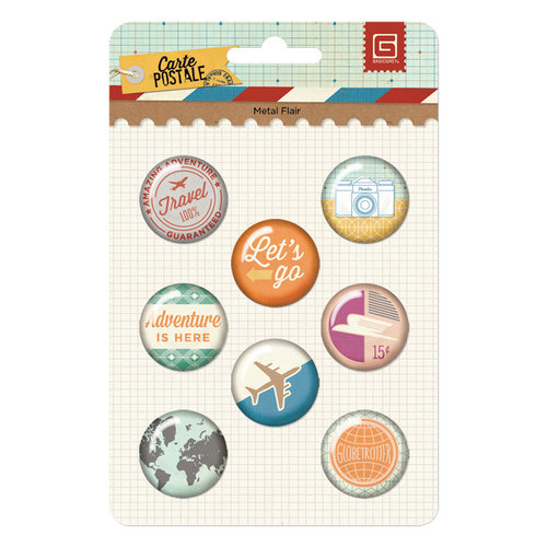 BasicGrey - Carte Postale Collection - Flair - 8 Adhesive Badges