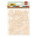BasicGrey - Carte Postale Collection - Wood Veneer Die Cuts