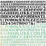 BasicGrey - Curio Collection - 12 x 12 Alphabet Stickers