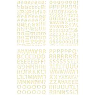 BasicGrey - Curio Collection - Adhesive Chipboard - Alphabet