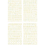 BasicGrey - Curio Collection - Adhesive Chipboard - Alphabet