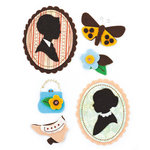 BasicGrey - Curio Collection - Woolies - 3 Dimensional Felt Stickers