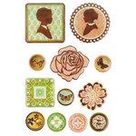 BasicGrey - Curio Collection - Epoxy Stickers