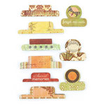 BasicGrey - Curio Collection - Office Tabs - Self Adhesive Paper Labels