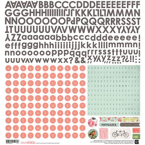 BasicGrey - Dear Heart Collection - 12 x 12 Cardstock Stickers - Alphabet