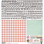 BasicGrey - Dear Heart Collection - 12 x 12 Cardstock Stickers - Alphabet